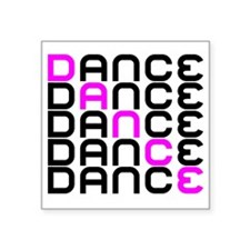 "Dance Square Sticker 3"" x 3"""