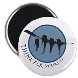 "Think for Yourself 2.25"" Magnet (10 pack)"