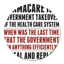 Repeal And Replace Obamacare Round Car Magnet