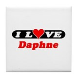 I Love Daphne Tile Coaster