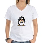 GLBT Penguin Women's V-Neck T-Shirt