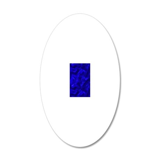 Blue Silk 20x12 Oval Wall Decal