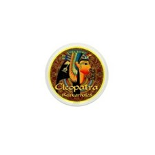 Cleopatra Reincarnated Persian Carpet Mini Button