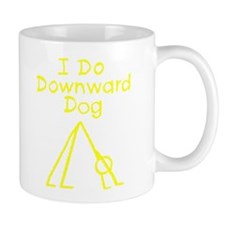 Red Downward Dog Mug