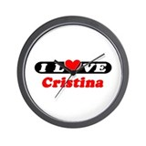 I Love Cristina Wall Clock