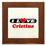 I Love Cristina Framed Tile
