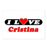 I Love Cristina Postcards (Package of 8)