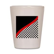 Racing Checkered Design Shot Glass