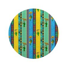"Mexican shower curtain 3.5"" Button"