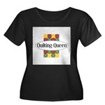 Quilting Queen Women's Plus Size Scoop Neck Dark T