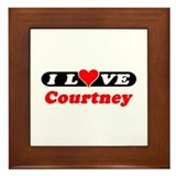 I Love Courtney Framed Tile