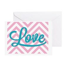 Love in tourquoise Greeting Card