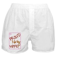 Proud Navy Wife Boxer Shorts