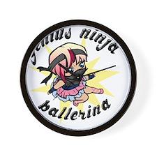 Genius Ninja Ballerina Wall Clock