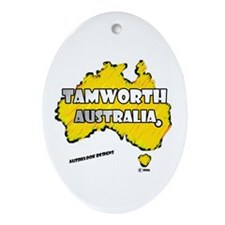 Unique Tamworth Oval Ornament