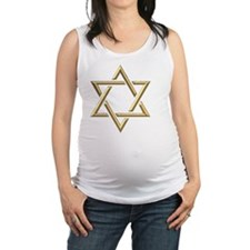 Golden 3-D Star of David Maternity Tank Top