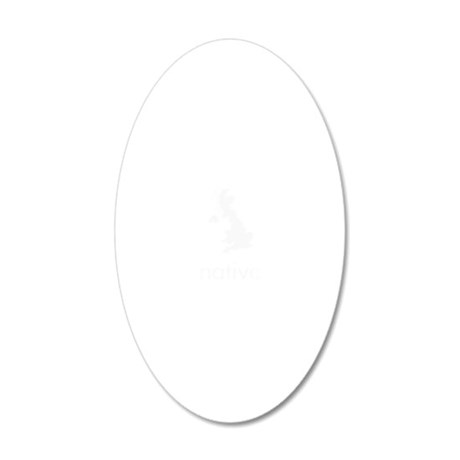 Native 20x12 Oval Wall Decal