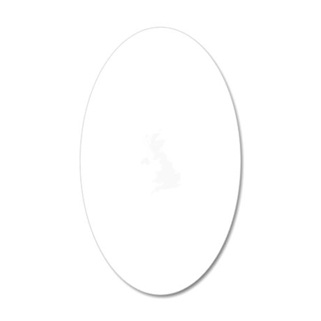 White 20x12 Oval Wall Decal