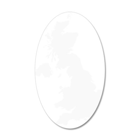 White 35x21 Oval Wall Decal