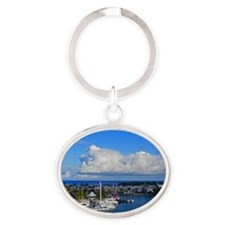 Royal Naval Dockyard Oval Keychain