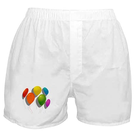 6 SHADOWED RAINBOW BALLOONS Boxer Shorts