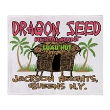 Dragon Seed Restaurant Throw Blanket