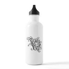 Black Swirly Lace Water Bottle