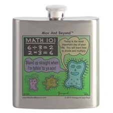 Amoeba Math Cartoon Flask