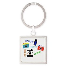 Shutterbug in Training Square Keychain