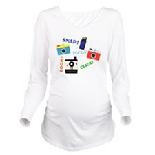 Shutterbug in Traini Long Sleeve Maternity T-Shirt