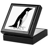 Penguin Sketch Keepsake Box