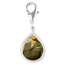 patton Silver Teardrop Charm