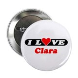 "I Love Clara 2.25"" Button (10 pack)"