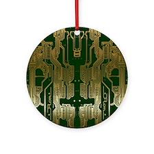 Circuitboard1 Round Ornament