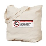 smoking reveals hidden laser traps Tote Bag