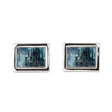 md chandeleir old blue grunge Cufflinks