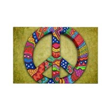 Peace Sign Note Card Rectangle Magnet