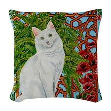 Snowis Garden Woven Throw Pillow
