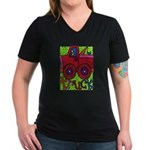 Truck Women's V-Neck Dark T-Shirt