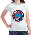 Pennsylvania Statehood Jr. Ringer T-Shirt