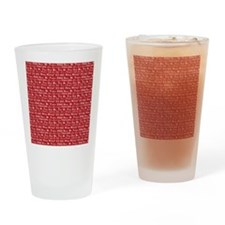 text on red Drinking Glass