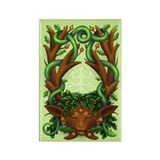Greenman Herne (greenhorn) Rectangle Magnet