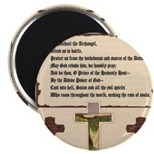 St. Michael the Archangel Prayer (Crosses) Magnet