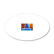 Buddha Blues 20x12 Oval Wall Decal