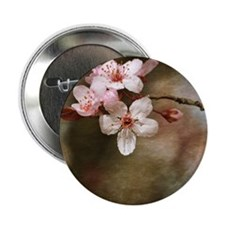 "cherry blossom flowers 2.25"" Button"