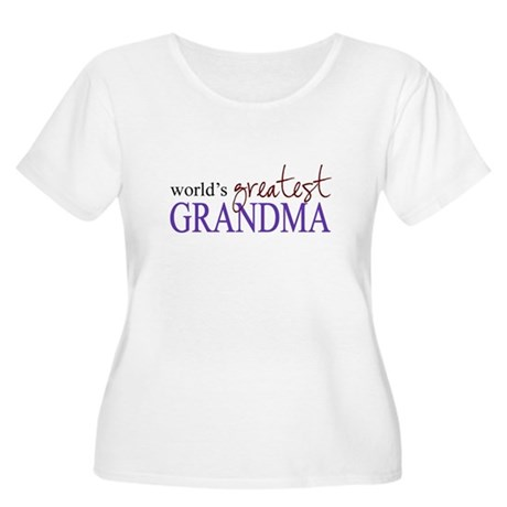 World's Greatest Grandma Women's Plus Size Scoop N
