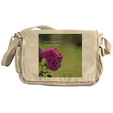 Love is Patient Roses Messenger Bag