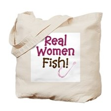 Real Women Fish Tote Bag
