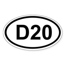 D20 Oval Decal