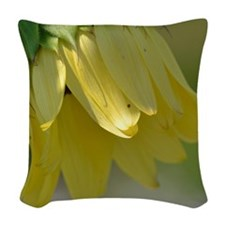Yellow Sunflower Woven Throw Pillow